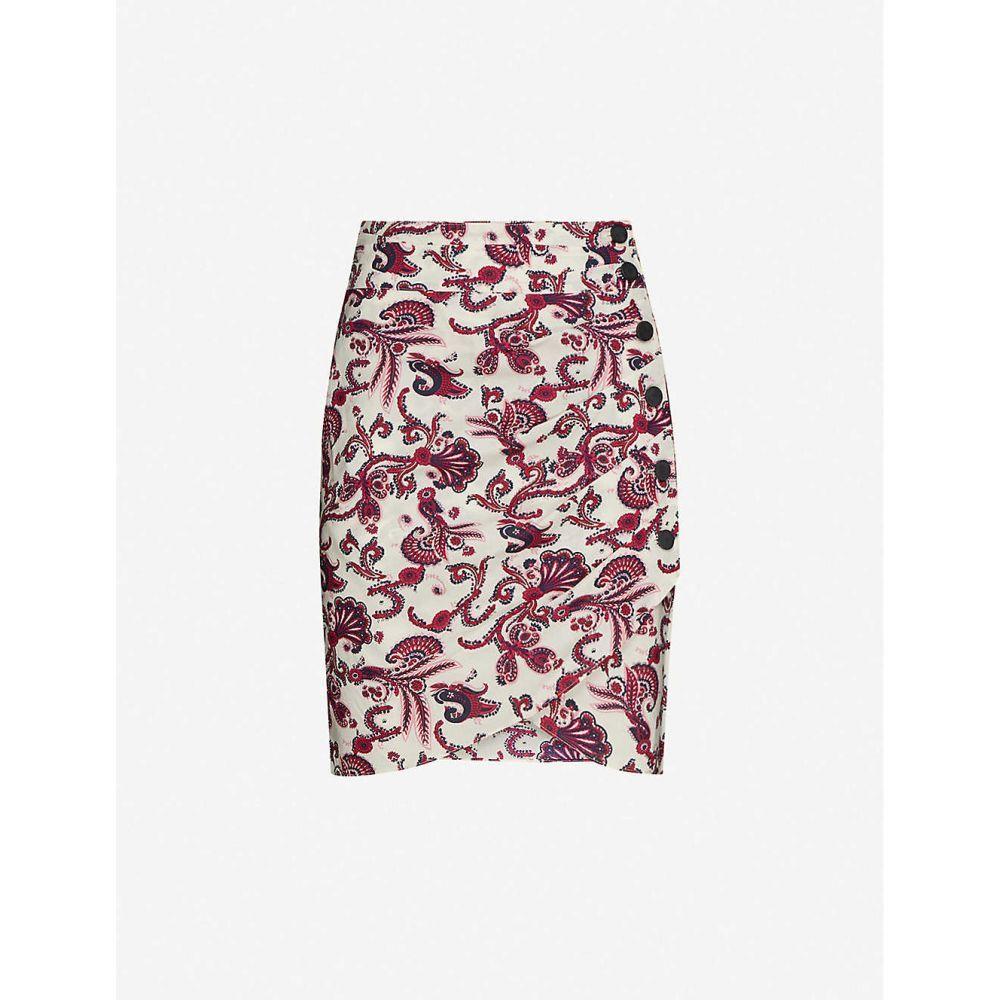 バッシュ BA&SH レディース ミニスカート スカート【Roster paisley-print cotton mini skirt】OFF WHITE