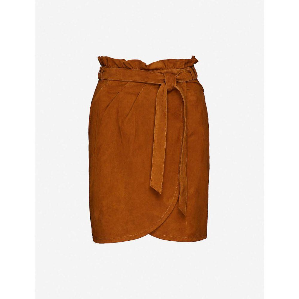 バッシュ BA&SH レディース ミニスカート スカート【Sun suede mini-skirt】CAMEL