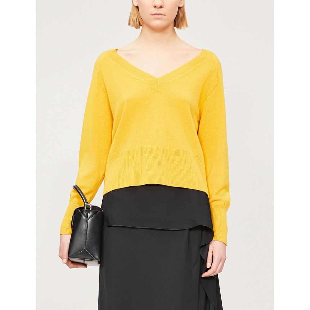 ホイッスルズ WHISTLES レディース ニット・セーター トップス【Sustainable cashmere and wool-blend jumper】Yellow