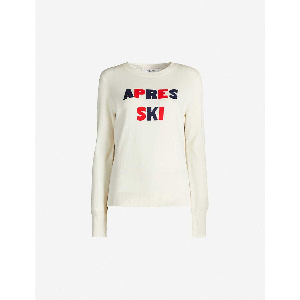 フレーム FRAME レディース ニット・セーター トップス【Apres Ski wool-and-cashmere blend jumper】OFF WHITE MULTI