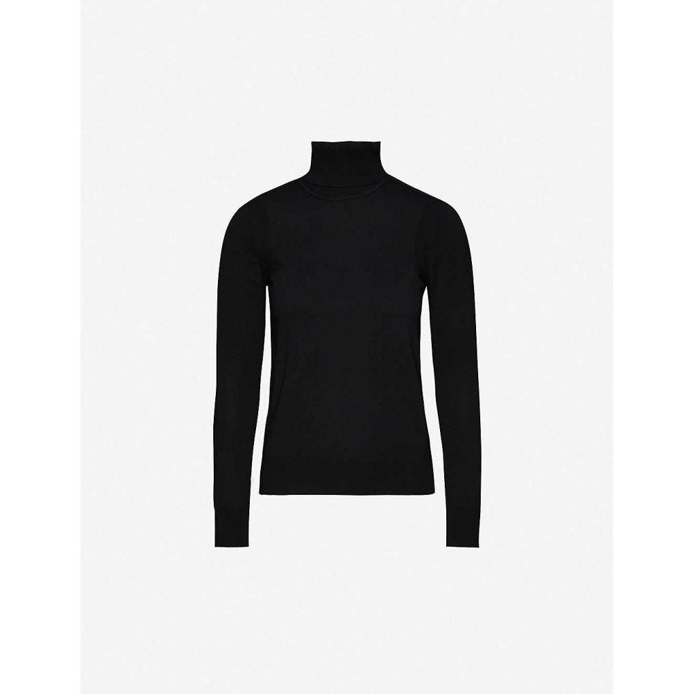 クローディ ピエルロ CLAUDIE PIERLOT レディース ニット・セーター トップス【Turtleneck striped wool-blend jumper】BLACK