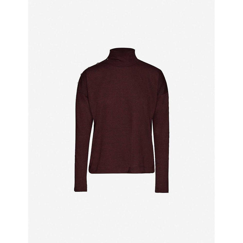 ペイジ PAIGE レディース ニット・セーター トップス【Paxton knitted jumper】Cabernet Black