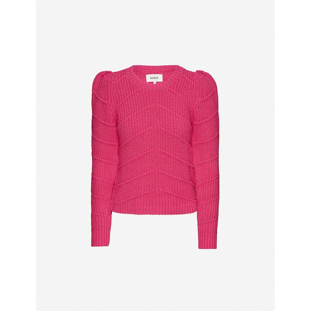 バッシュ BA&SH レディース ニット・セーター トップス【Dabney cotton-blend knitted jumper】FUCHSIA
