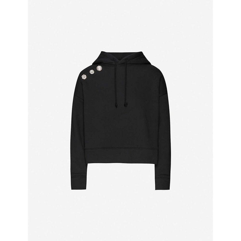 バッシュ BA&SH レディース パーカー トップス【Didi diamante-embellished cotton-blend hoody】BLACK