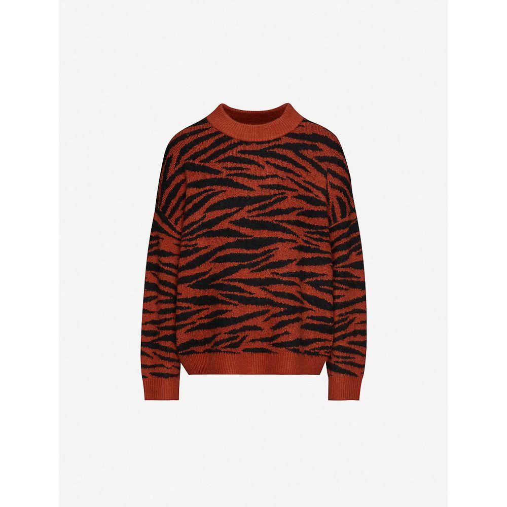 ホイッスルズ WHISTLES レディース ニット・セーター トップス【Tiger-patterned knitted jumper】Multicolour