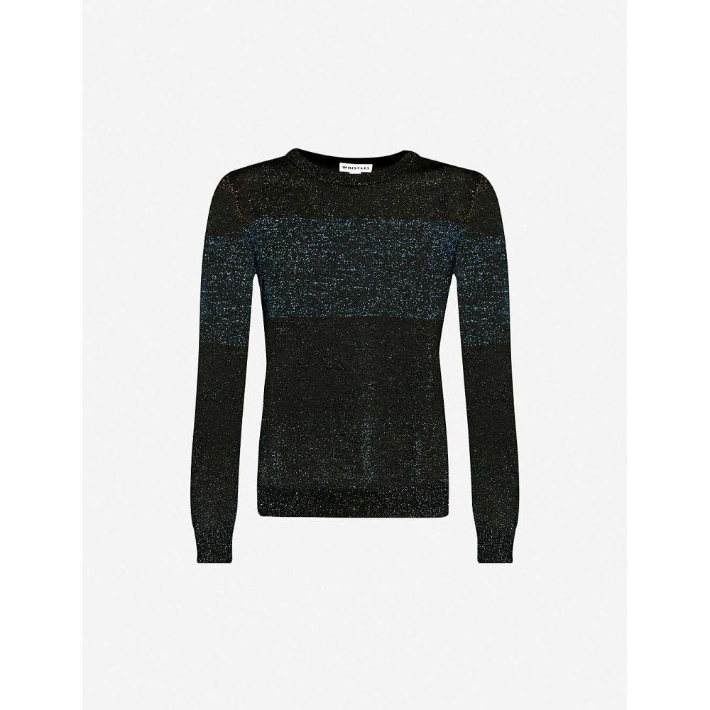 ホイッスルズ WHISTLES レディース ニット・セーター トップス【Colour-block metallic-knit jumper】MULTI-COLOURED