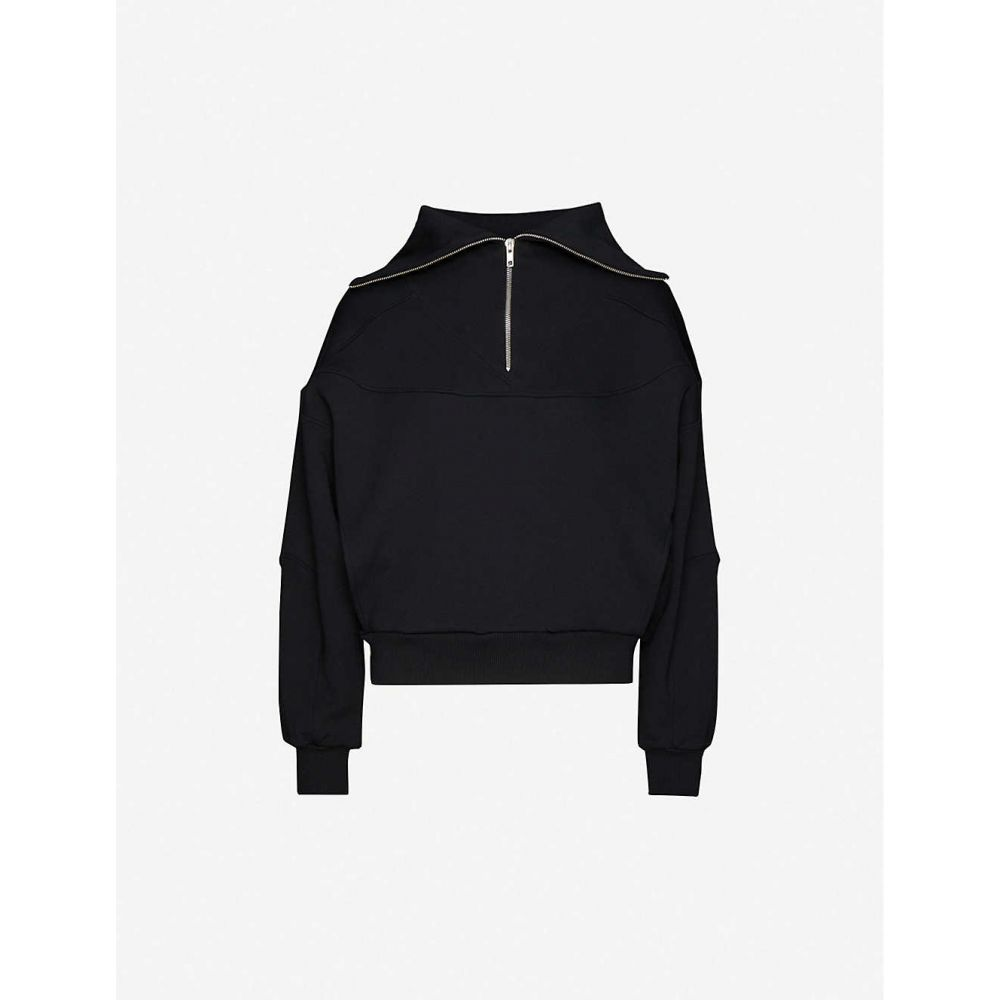 レ コヨーテドゥパリ LES COYOTES DE PARIS レディース スウェット・トレーナー トップス【Aylin high-neck cotton-blend jersey sweatshirt】Noir