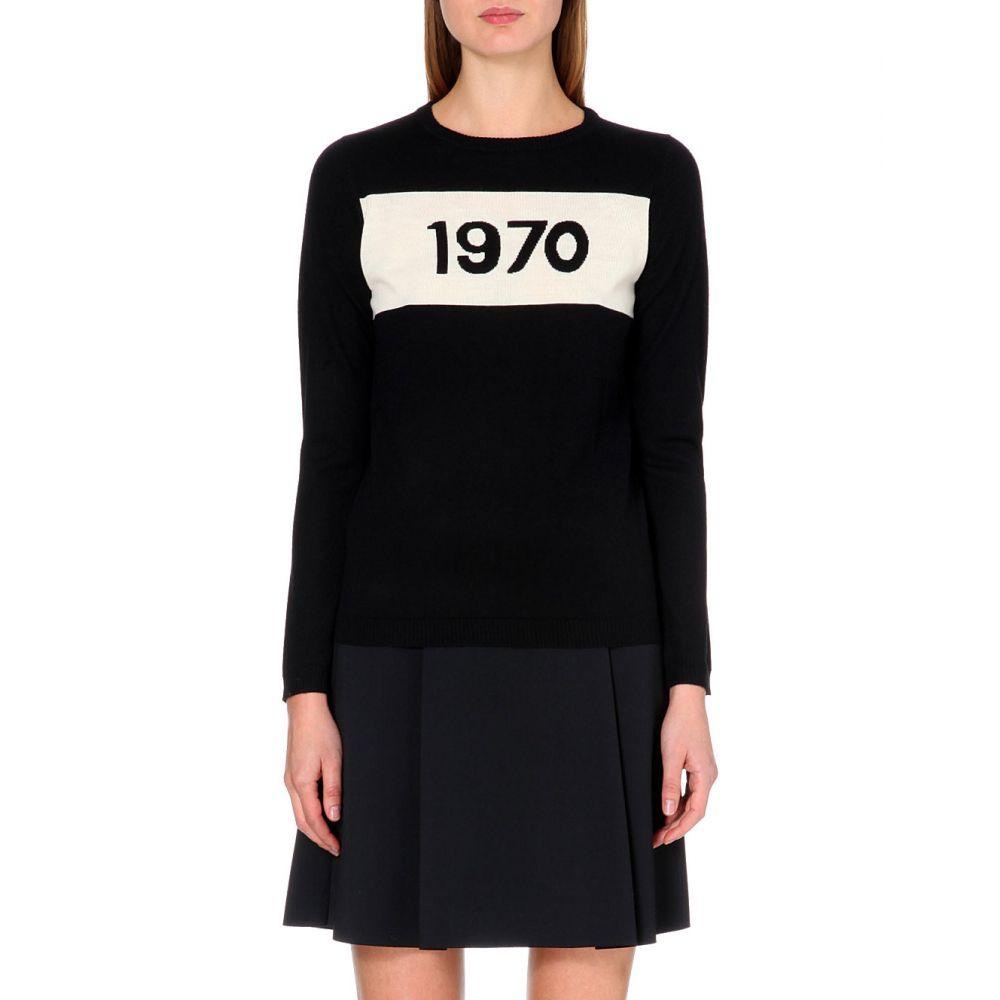 ベラフルード BELLA FREUD レディース ニット・セーター トップス【1970 merino wool jumper】BLACK IVORY