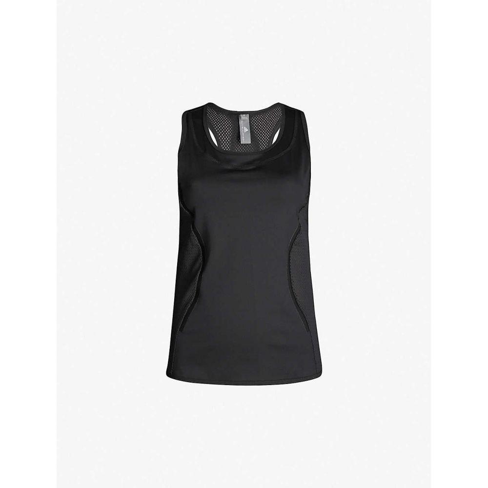 アディダス ADIDAS BY STELLA MCCARTNEY レディース タンクトップ トップス【Essentials logo-print stretch-jersey tank top】Black
