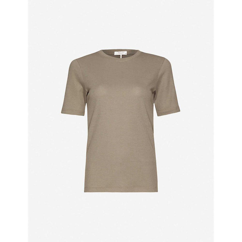 ラグ&ボーン RAG & BONE レディース 長袖Tシャツ トップス【Cotton-blend T-shirt】Greymoss