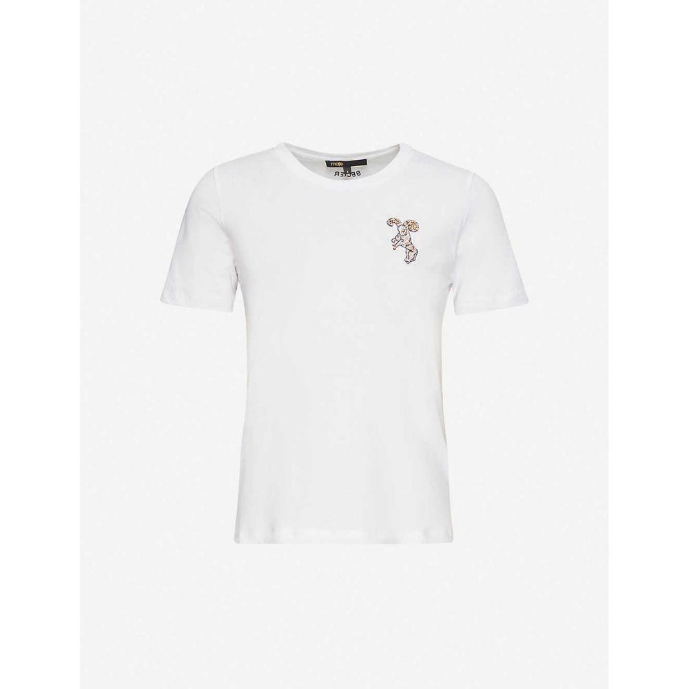 マージュ MAJE レディース Tシャツ トップス【Aries Zodiac cotton t-shirt】ECRU