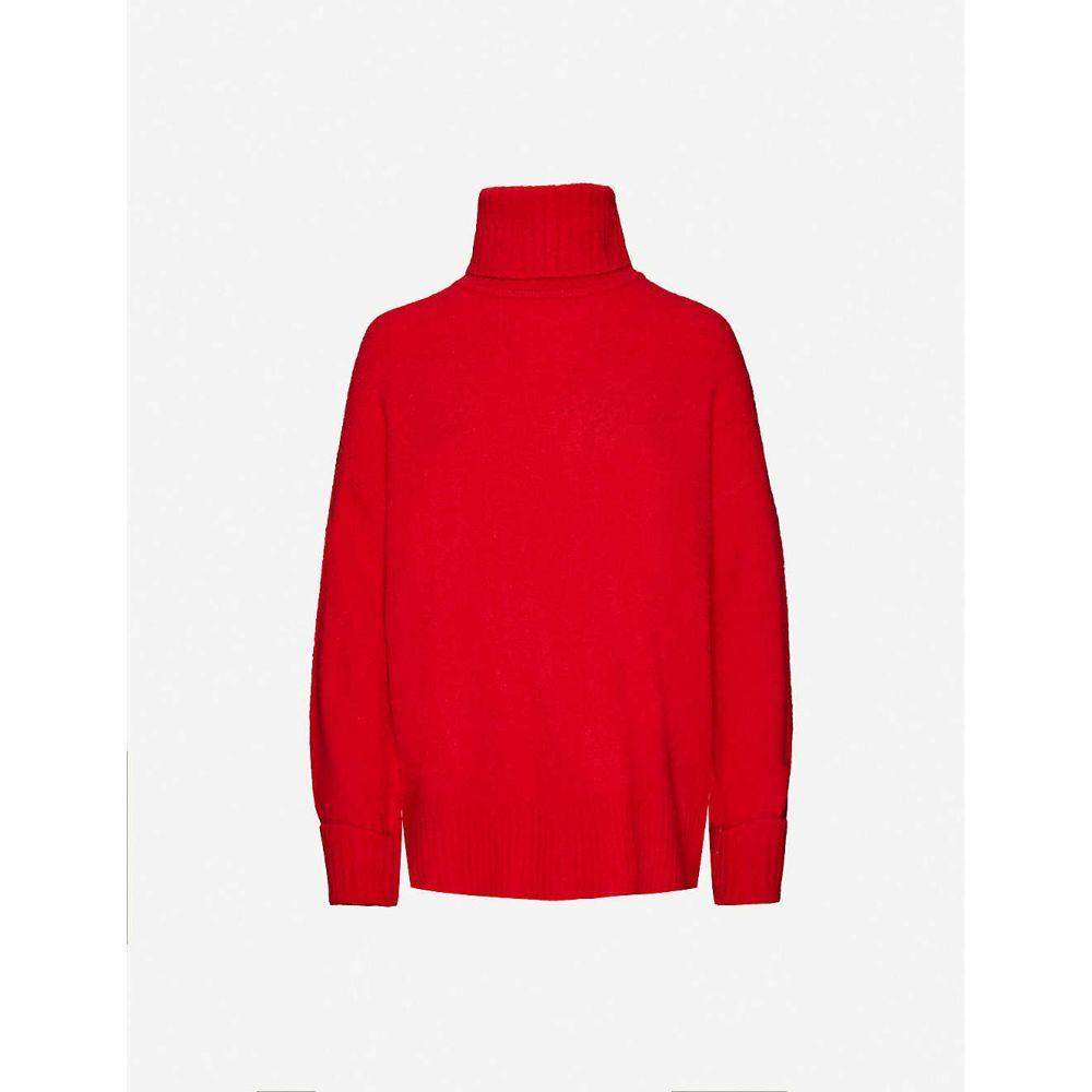 ホイッスルズ WHISTLES レディース ニット・セーター トップス【Knitted roll-neck jumper】Red