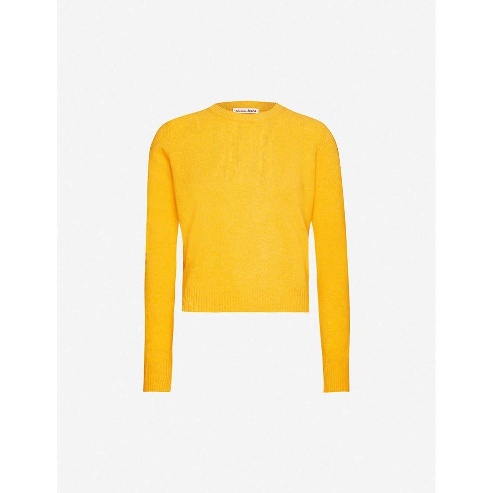 リフォーメーション REFORMATION レディース ニット・セーター トップス【Round-neck cashmere-knitted jumper】Ochre