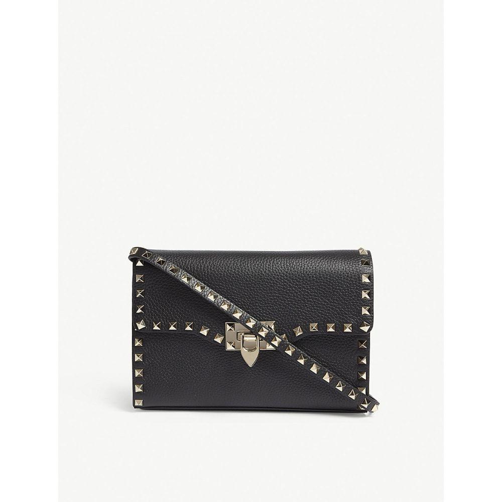 ヴァレンティノ VALENTINO レディース ショルダーバッグ バッグ【Rockstud leather cross-body bag】BLACK