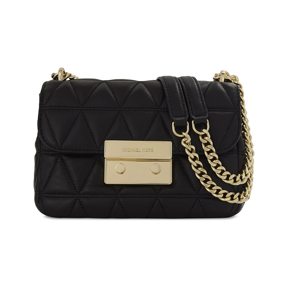 マイケル コース MICHAEL MICHAEL KORS レディース ショルダーバッグ バッグ【Sloan small quilted leather cross-body bag】Black