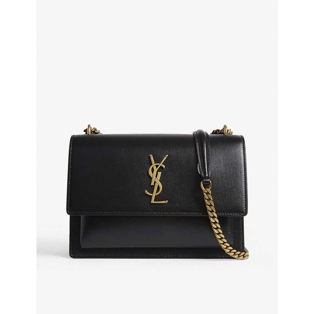 イヴ サンローラン SAINT LAURENT レディース ショルダーバッグ バッグ【Monogram Sunset medium leather cross-body bag】Black gold