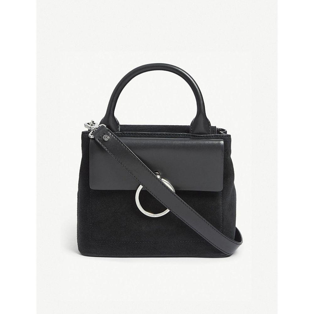 クローディ ピエルロ CLAUDIE PIERLOT レディース ショルダーバッグ バッグ【Anouck small leather and suede shoulder bag】Noir