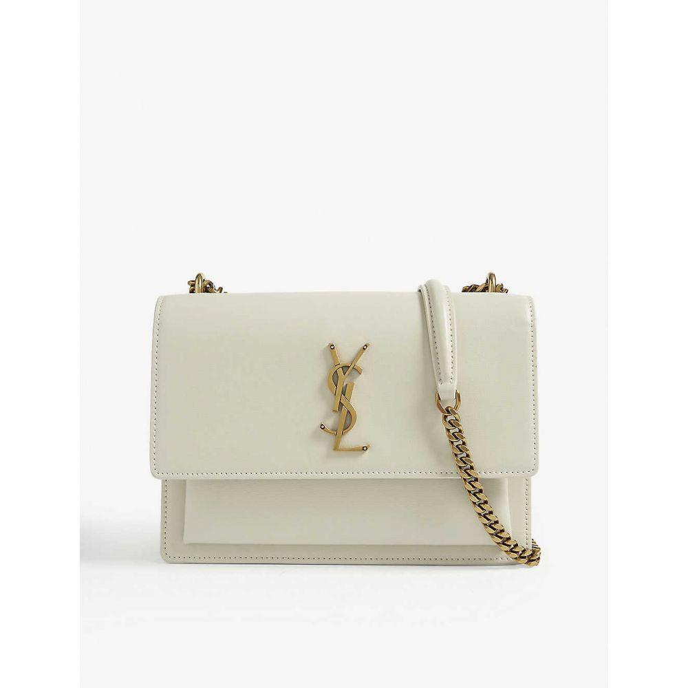 イヴ サンローラン SAINT LAURENT レディース ショルダーバッグ バッグ【Sunset medium leather shoulder bag】Antique White Gold