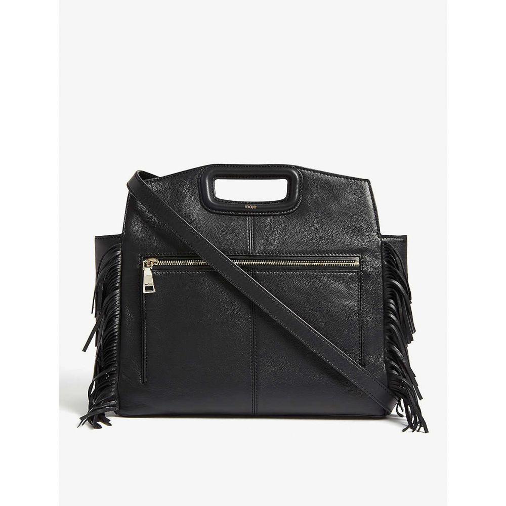 マージュ MAJE レディース ショルダーバッグ バッグ【M leather shoulder bag】Black