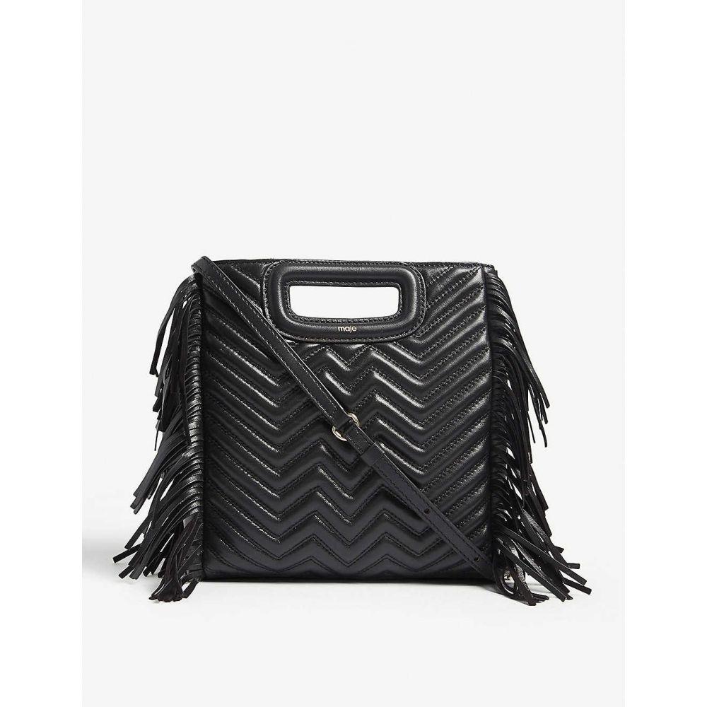 マージュ MAJE レディース ショルダーバッグ バッグ【M quilted leather shoulder bag】BLACK