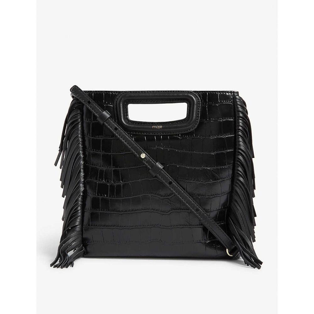マージュ MAJE レディース ショルダーバッグ バッグ【Bag-119mcroco】Black