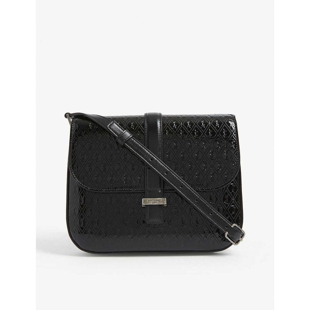 イヴ サンローラン SAINT LAURENT レディース ショルダーバッグ バッグ【Monogram logo patent leather saddle bag】BLACK