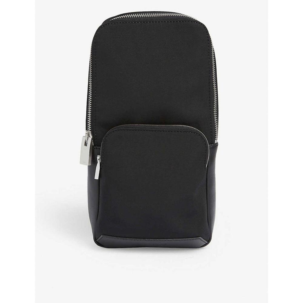 アリクス 1017 ALYX 9SM レディース ショルダーバッグ バッグ【Nylon and leather Rollcercoaster buckle sling bag】BLACK