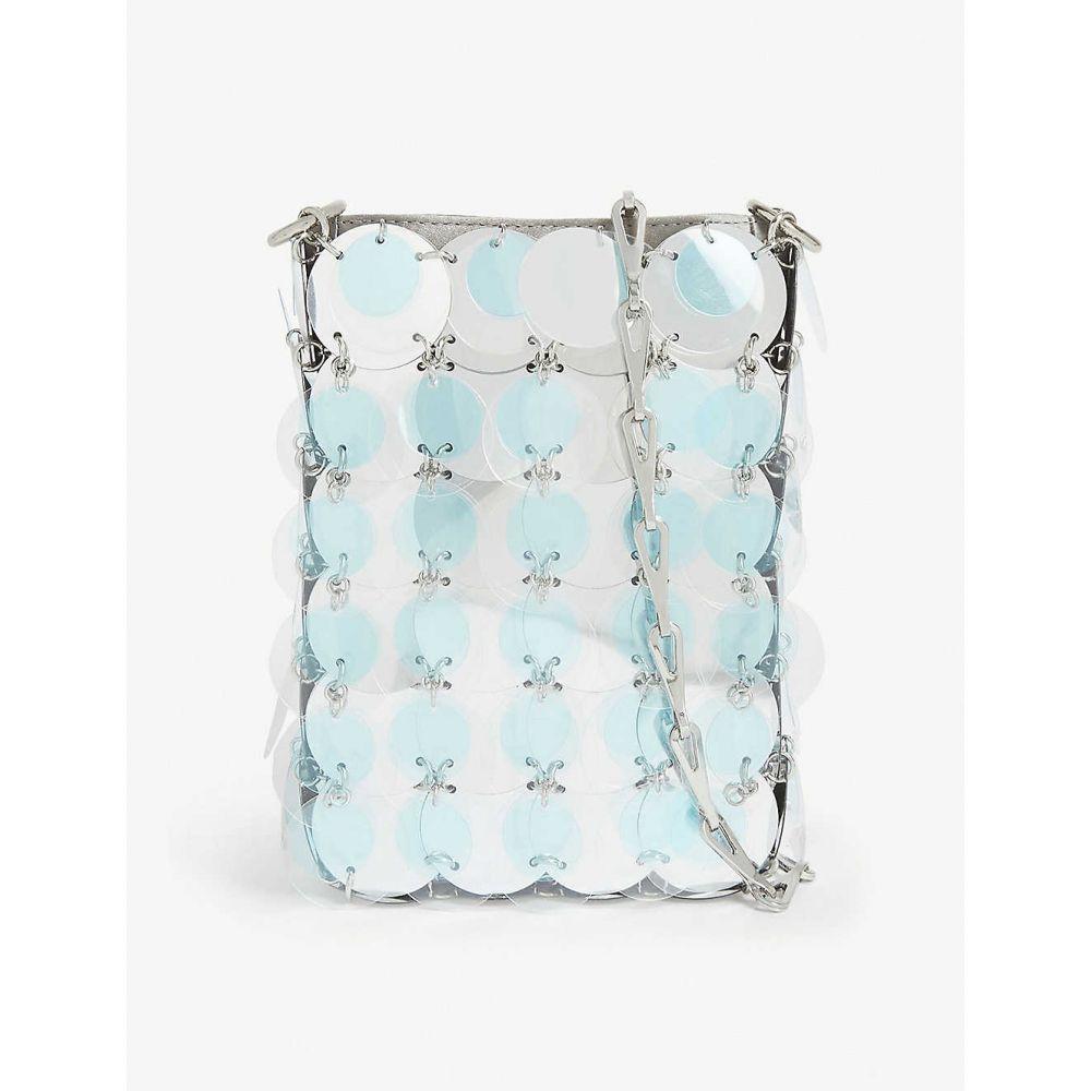 パコラバンヌ PACO RABANNE レディース ショルダーバッグ バッグ【Iconic mini cross-body bag】Silver Blue Clear
