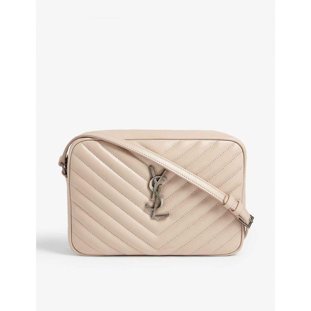 イヴ サンローラン SAINT LAURENT レディース ショルダーバッグ カメラバッグ バッグ【Mono Lou leather camera bag】Marble Pink Sil