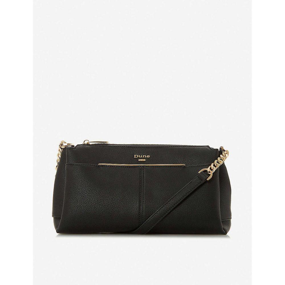 デューン DUNE レディース ショルダーバッグ バッグ【Dornea faux-leather crossbody bag】BLACK-PLAIN SYNTHETIC