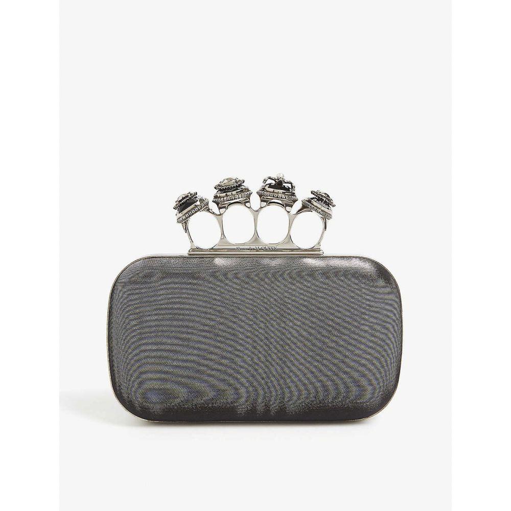 アレキサンダー マックイーン ALEXANDER MCQUEEN レディース クラッチバッグ バッグ【Ring clutch bag】Black Silver