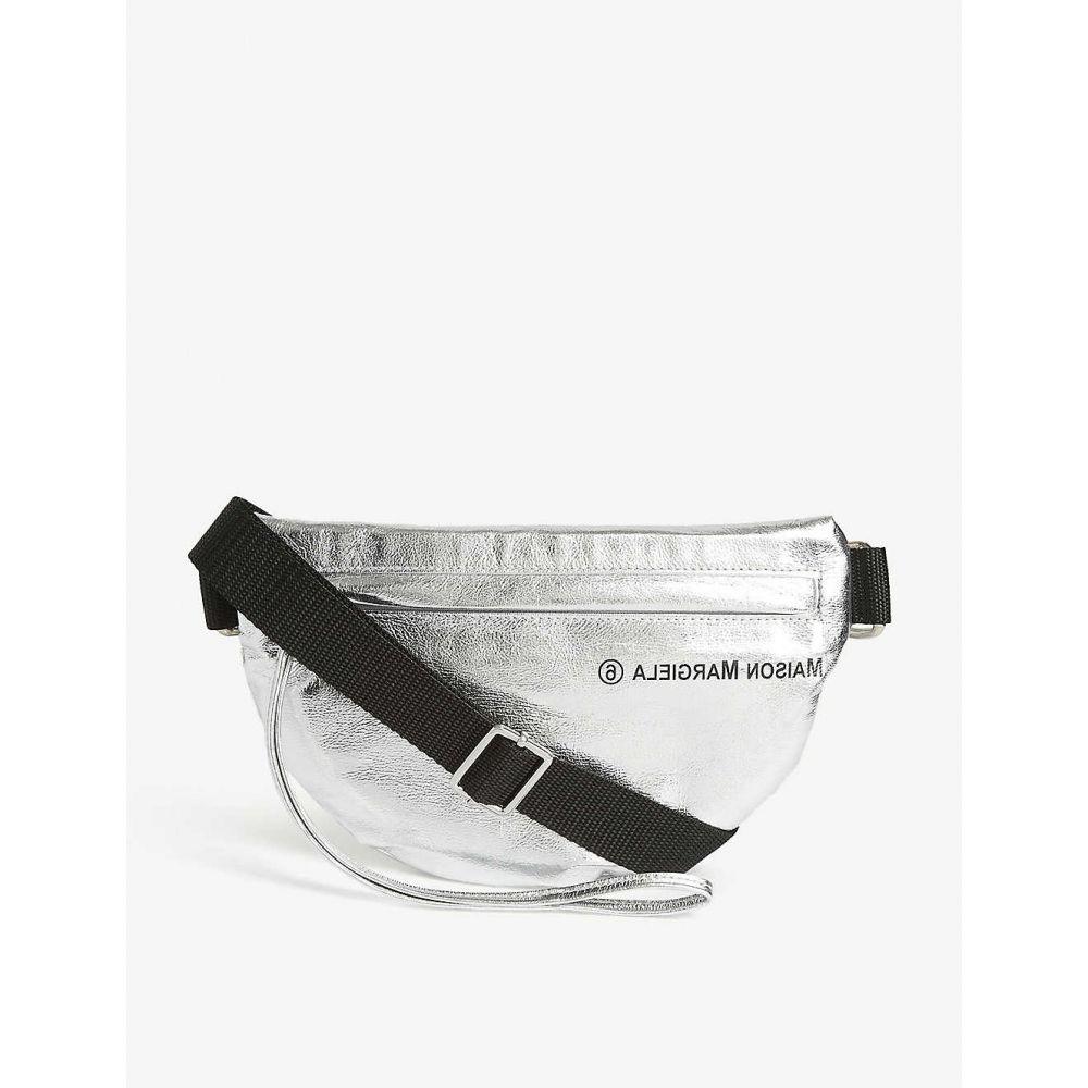 メゾン マルジェラ MAISON MARGIELA レディース ショルダーバッグ バッグ【Logo-print metallic cross-body bag】Metallic Silver