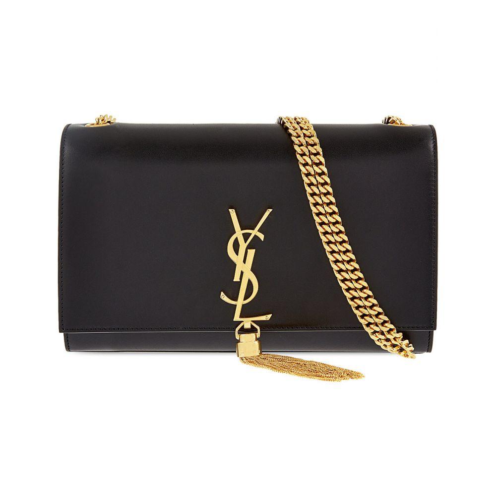 イヴ サンローラン SAINT LAURENT レディース ショルダーバッグ バッグ【Monogram medium leather shoulder bag】BLACK