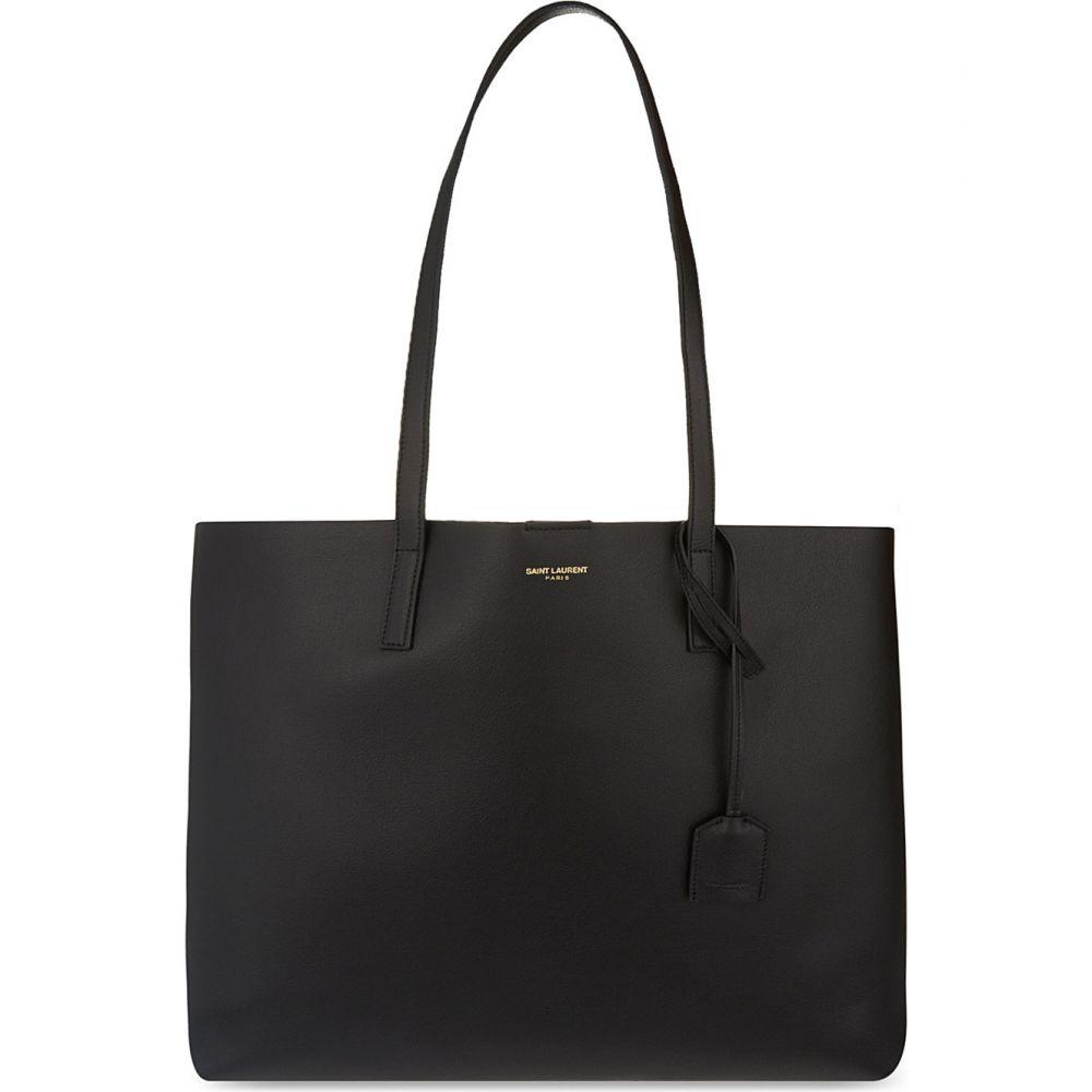 イヴ サンローラン SAINT LAURENT レディース トートバッグ バッグ【Large leather tote】BLACK