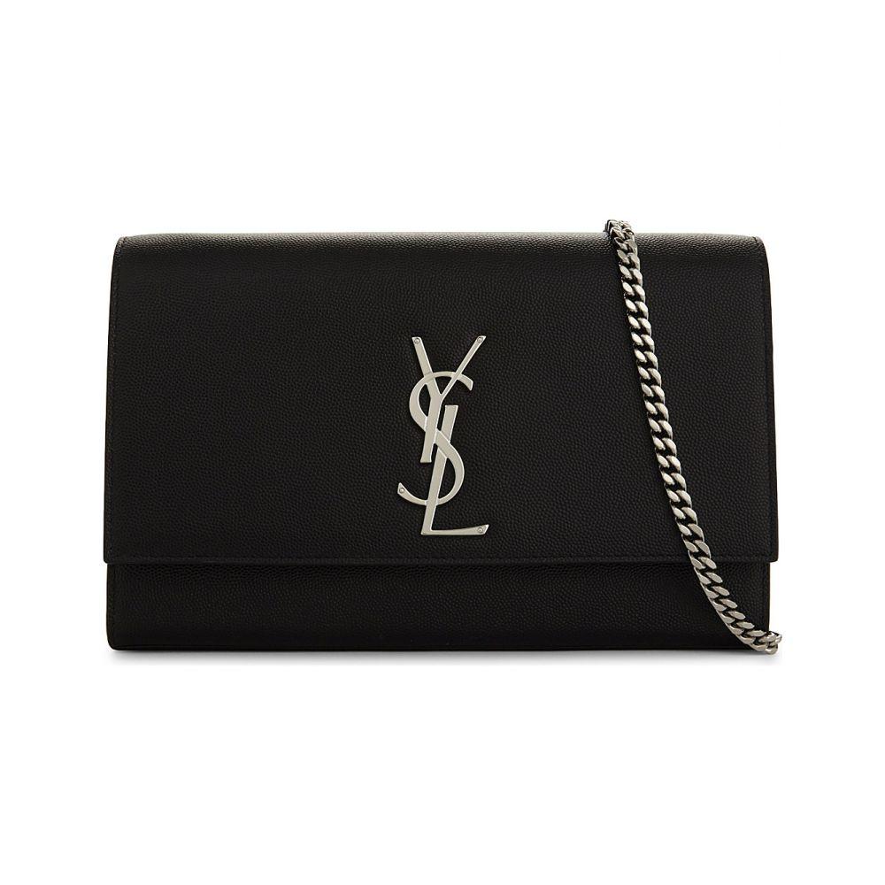 イヴ サンローラン SAINT LAURENT レディース ショルダーバッグ バッグ【Kate Monogram leather shoulder bag】BLACK