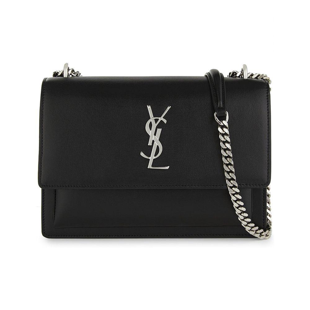 イヴ サンローラン SAINT LAURENT レディース ショルダーバッグ バッグ【Monogram Sunset medium leather cross-body bag】Black