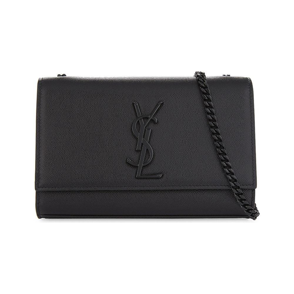 イヴ サンローラン SAINT LAURENT レディース ショルダーバッグ バッグ【Monogram Kate small pebbled leather cross-body bag】BLACK BLACK