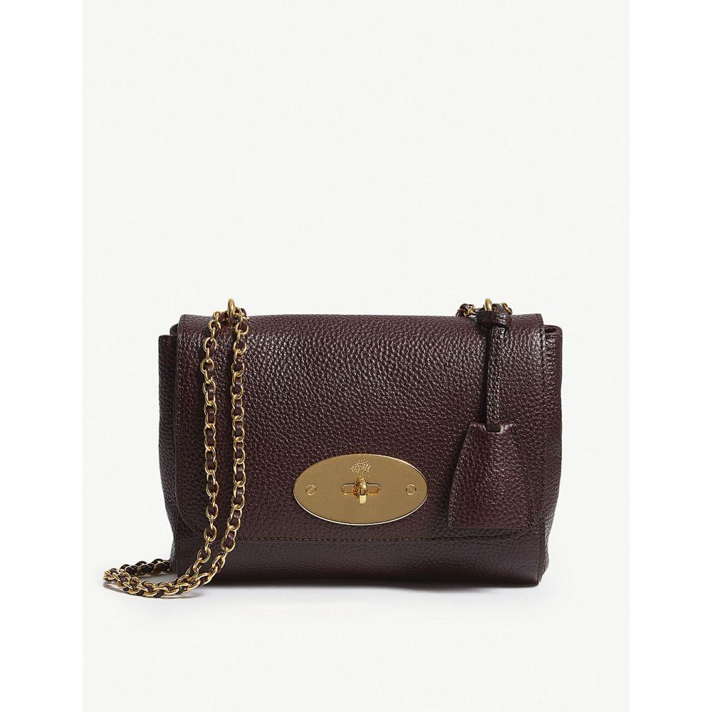 マルベリー MULBERRY レディース ショルダーバッグ バッグ【Lily grained-leather shoulder bag】OXBLOOD