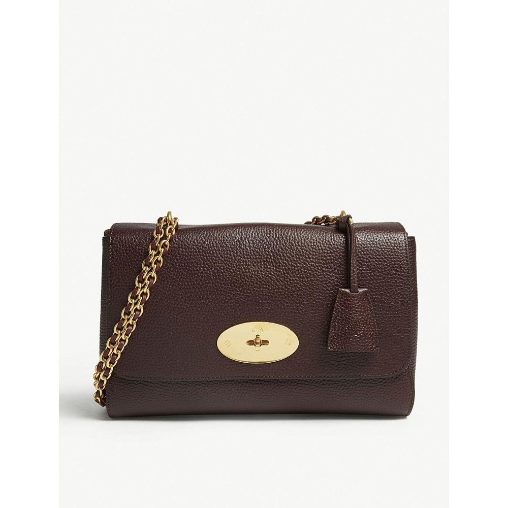 マルベリー MULBERRY レディース ショルダーバッグ バッグ【Lily medium grained-leather shoulder bag】OXBLOOD