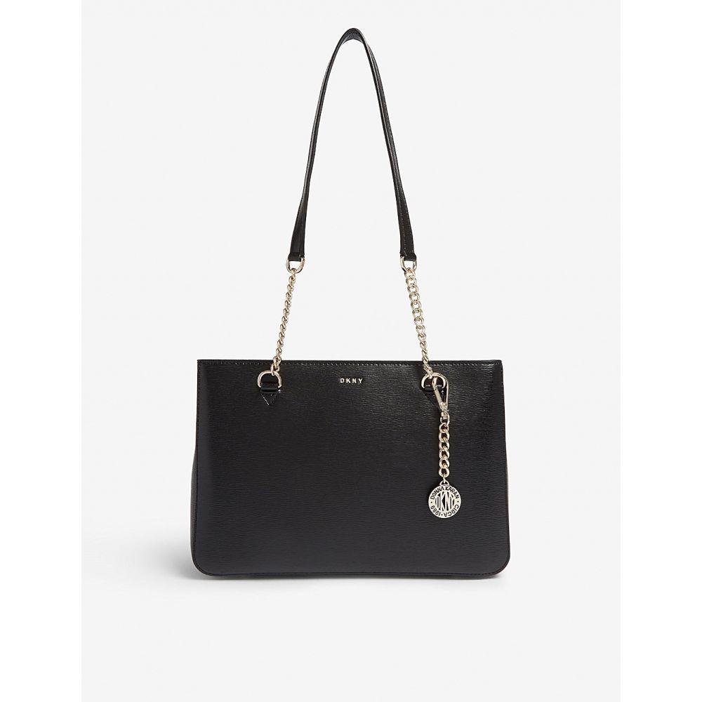 ダナ キャラン ニューヨーク DKNY レディース トートバッグ バッグ【Bryant medium leather tote bag】Black/gold