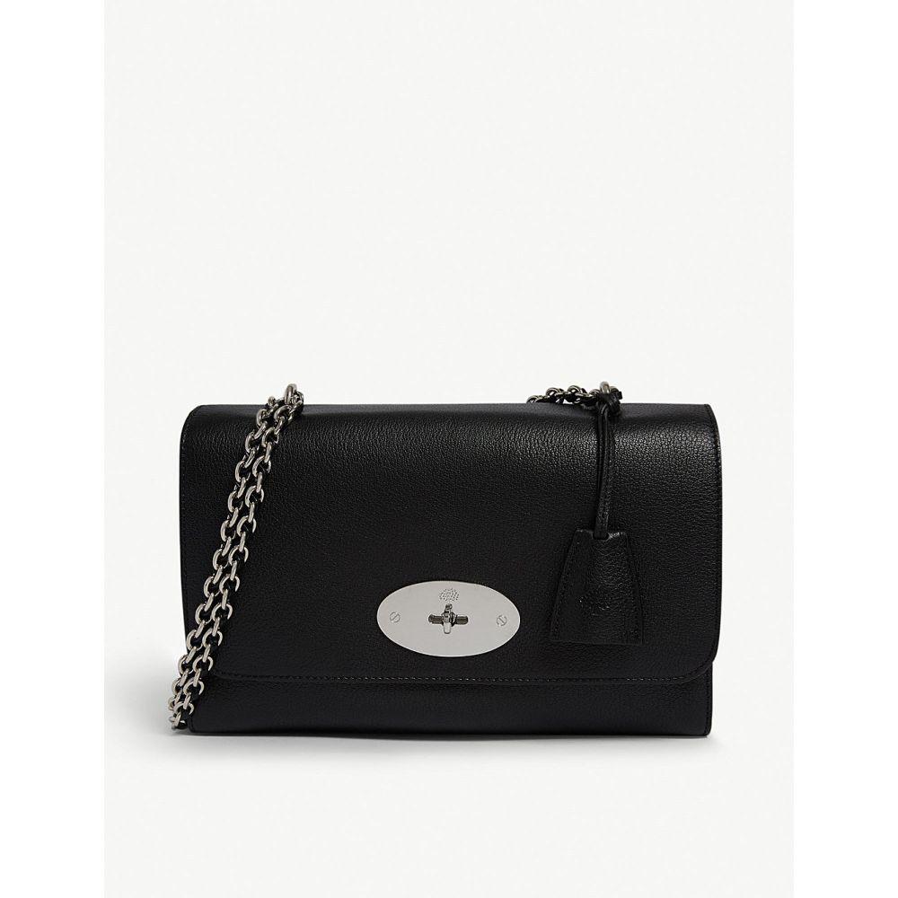 マルベリー MULBERRY レディース ショルダーバッグ バッグ【Lily grained-leather medium shoulder bag】BLACK/SILVER