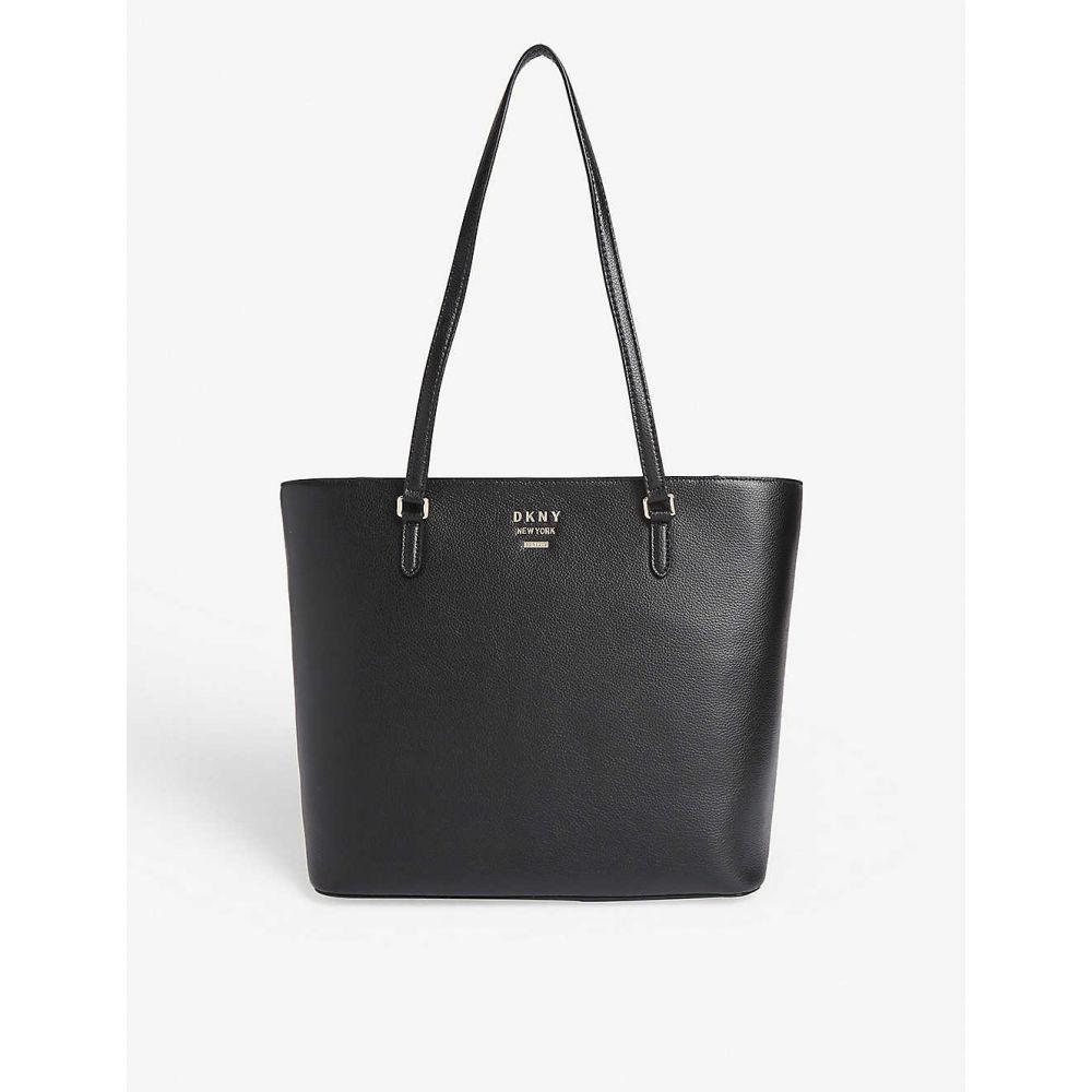 ダナ キャラン ニューヨーク DKNY レディース トートバッグ バッグ【Whitney leather large tote】Black/gold