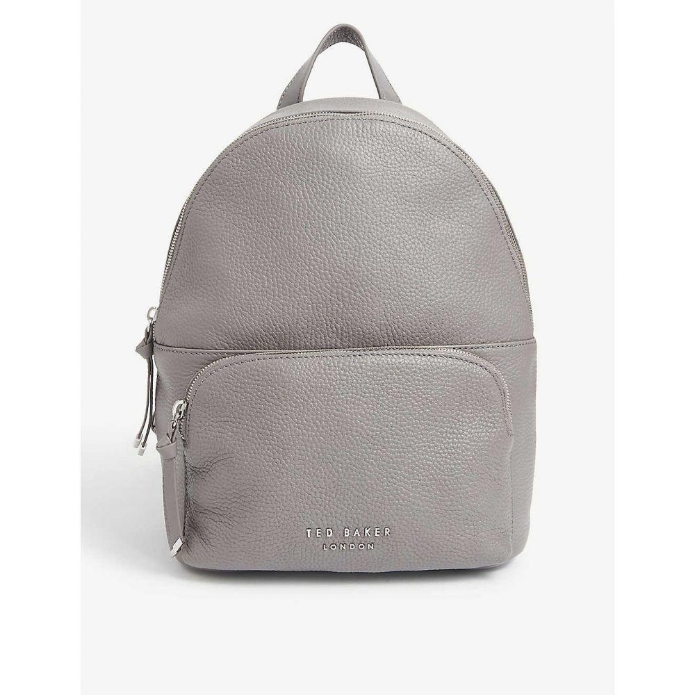 テッドベーカー TED BAKER レディース バックパック・リュック バッグ【Roziie pebbled leather backpack】DK-GREY