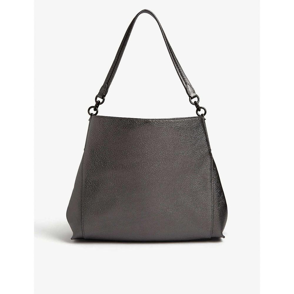 コーチ COACH レディース ショルダーバッグ バッグ【Dalton leather shoulder bag】V/METALLIC GRAPHITE