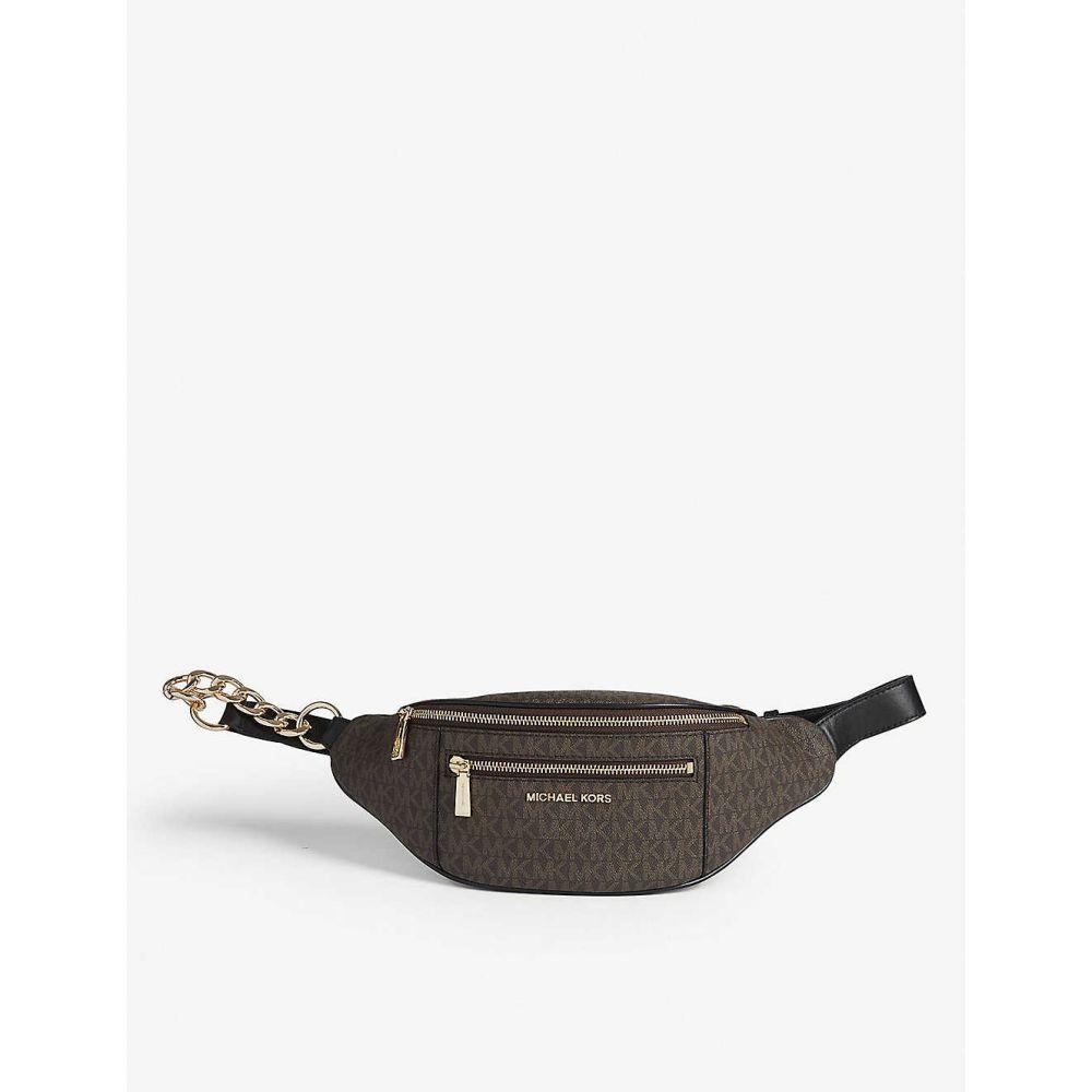 マイケル コース MICHAEL MICHAEL KORS レディース ボディバッグ・ウエストポーチ バッグ【Mott monogram coated canvas belt bag】Brown/blk