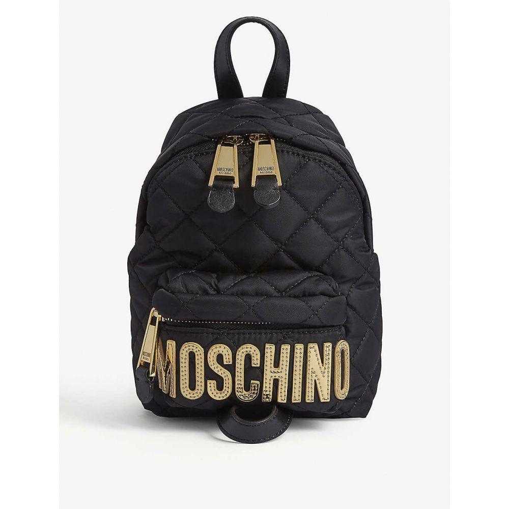 モスキーノ MOSCHINO レディース バックパック・リュック バッグ【Quilted medium nylon backpack】BLACK GOLD