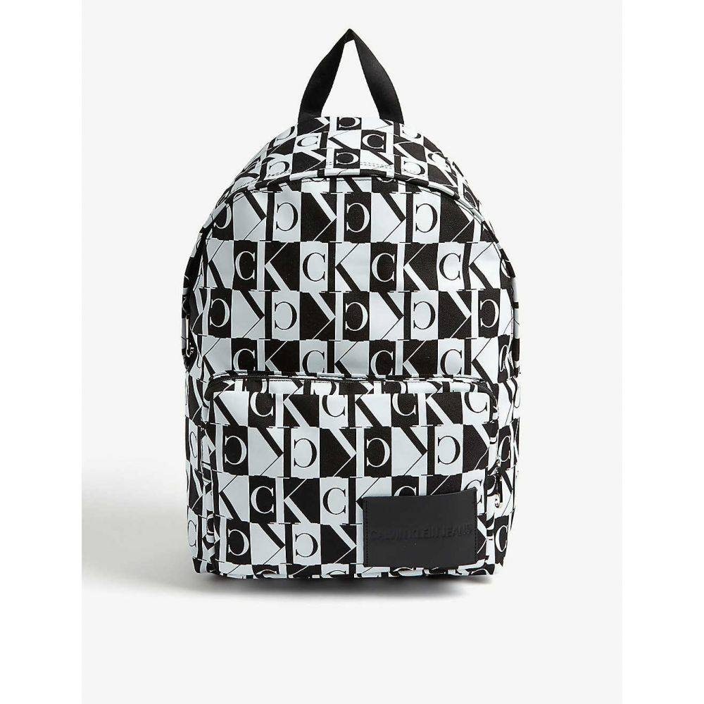 カルバンクライン CALVIN KLEIN JEANS レディース バックパック・リュック バッグ【Check logo nylon backpack】BLACK/WHITE