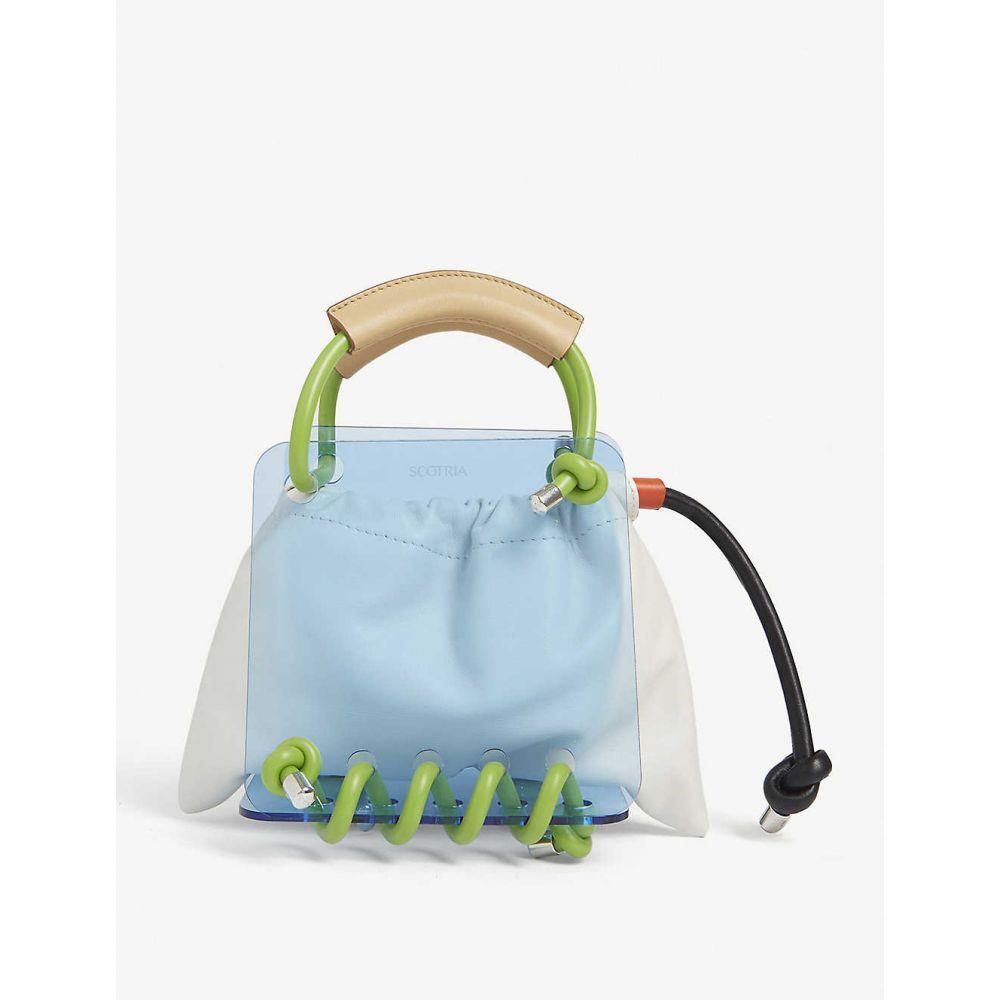 スコトリア SCOTRIA レディース トートバッグ バッグ【Berg tote bag】White & Lime