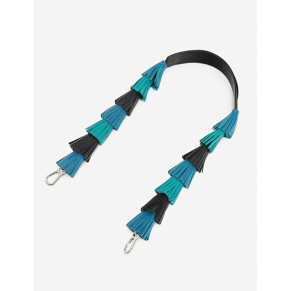 ロエベ LOEWE レディース バッグストラップ バッグ【Tasselled leather strap】DARK LAGOON/EMERALD