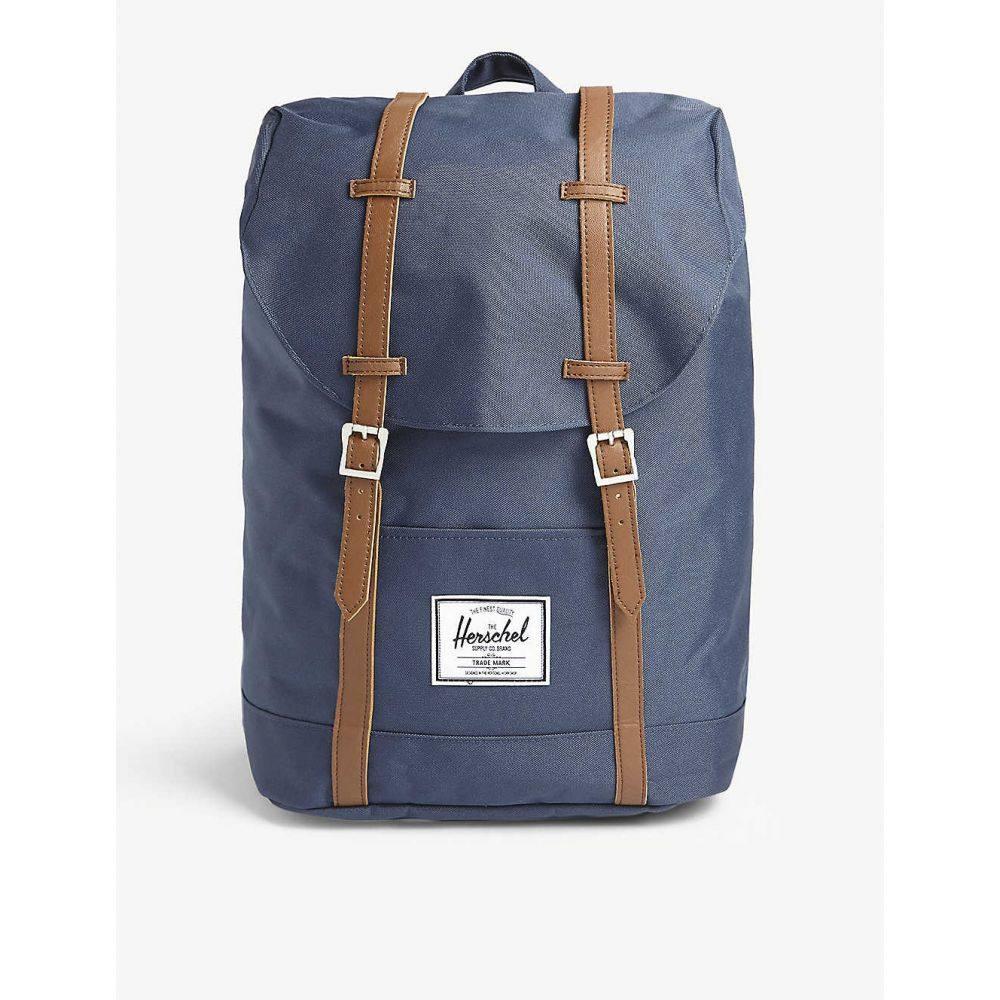 ハーシェル サプライ HERSCHEL SUPPLY CO レディース バックパック・リュック バッグ【Retreat canvas backpack】Navy/tan Pu